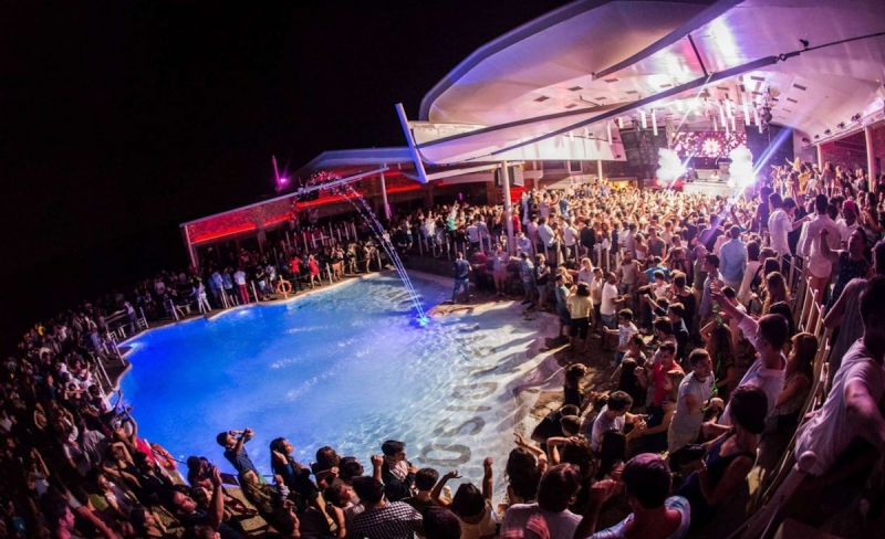 club called void in Mykonos