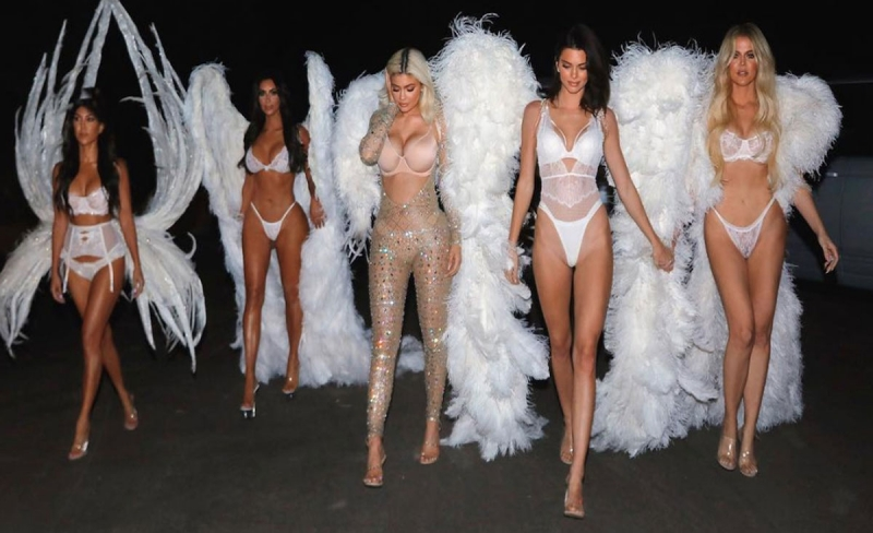 the kardashians in victoria secret clothes